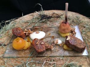 Anatra scottata con porcini e salsa di agrumi