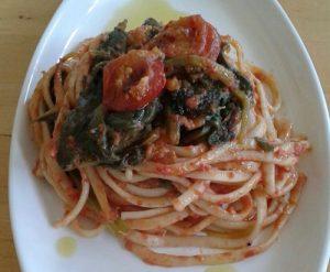 Linguinine al forno con bietole