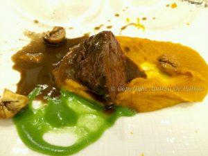 Guancia di manzo, Amaro Lucno, zucca e caldarroste