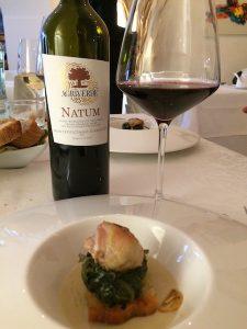 Il Natum con Pancotto con petto di quaglia , fagiolo tondino del Tavo e aglio rosso di Sulmona
