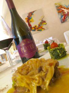 Il Plateo 2009 con Filetto di marchigiana di Pianella, stufato di cipolla di Fara Figliorumpetri e rape ripassate all'aglio di Sulmuna,