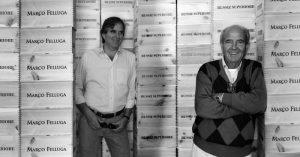 Roberto e Marco Felluga sulla destra
