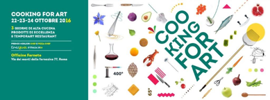 Cooking For Art 22-23-24 ottobre 2016 Roma
