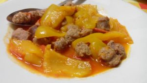 Peperoni e salsiccia seconda entrée